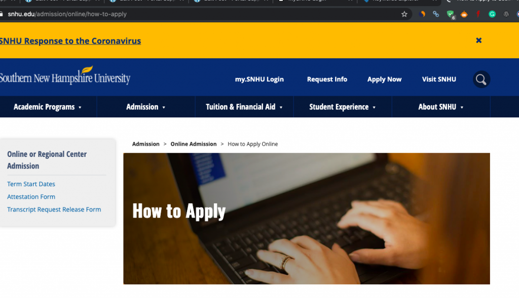 How to Apply for SNHU